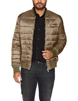 Members Only Men's Down Blend Varsity Puffer Jacket