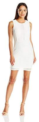 Lark & Ro Amazon Brand Women's Sleeveless Petite Sleeveless 3D Stripe Sheath Dress