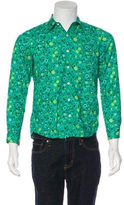 Beams Floral Print Button-Up Shirt