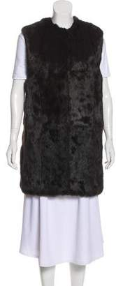 Adrienne Landau Fur Short Vest