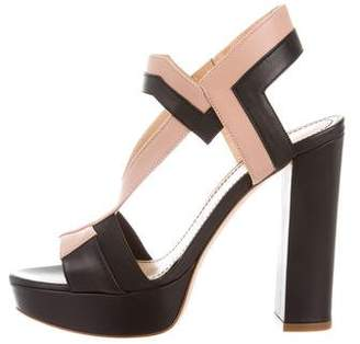 Jerome C. Rousseau Leather Platform Sandals w/ Tags