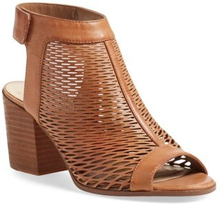Women's Vince Camuto 'Lavette' Perforated Peep Toe Bootie $119.95 thestylecure.com
