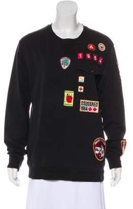 DSQUARED2 Crew Neck Long Sleeve Sweatshirt