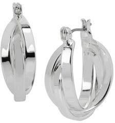 Kenneth Cole New York Multi-Row Silvertone Hoop Earrings - 1 In.