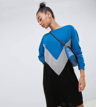 Noisy May Tall colour block dress