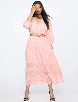 Burnout Chiffon Maxi Dress