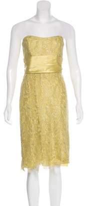 Nicole Miller Strapless Midi Dress