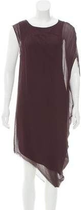 Helmut Lang Asymmetrical Midi Dress