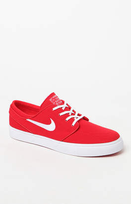 Nike Sb Zoom Stefan Janoski Canvas Red & White Shoes