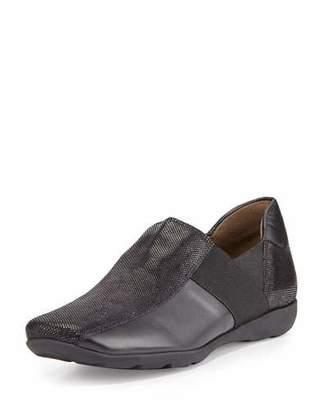 Sesto Meucci Geneva Leather Slip-On Sneaker, Black $225 thestylecure.com