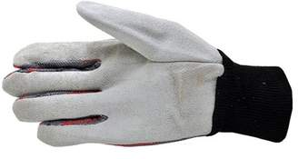 5004-5 Leather Palm, Canvas Back Knit Wrist Leather Work Gloves, 5-Pair Pack, Men's Large, Cotton 50%/Leather 50% By G & F