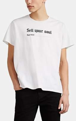 "R 13 Men's ""Sell Your Soul"" Cotton T-Shirt - White"