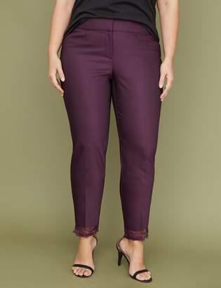 Lane Bryant Power Pockets Allie Modern Stretch Ankle Pant - Lace Hem