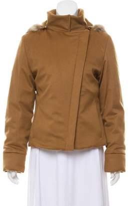 Loro Piana Fur-Trimmed Cashmere Jacket