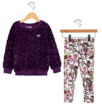 Juicy Couture Girls' Floral Pant Set