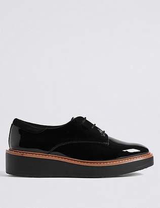 Marks and Spencer Leather Flatform Brogue Shoes