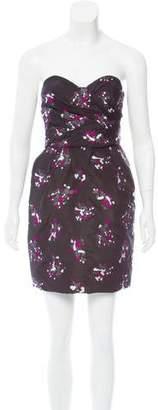 Proenza Schouler Strapless Jacquard Dress