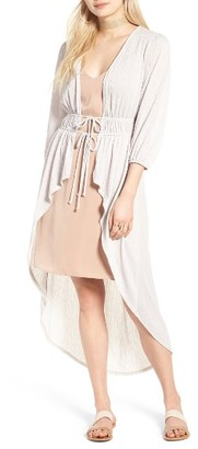 Women's Sun & Shadow Tie Front Duster $55 thestylecure.com