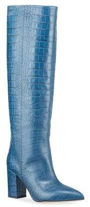 Paris Texas Moc-Crocodile Knee Boots