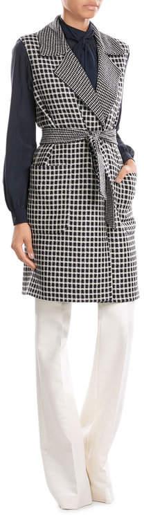Max MaraMax Mara Reversible Virgin Wool Sleeveless Cardigan