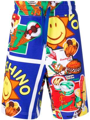 Moschino ice cream printed shorts