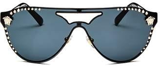 Versace Embellished Rimless Aviator Sunglasses, 42mm