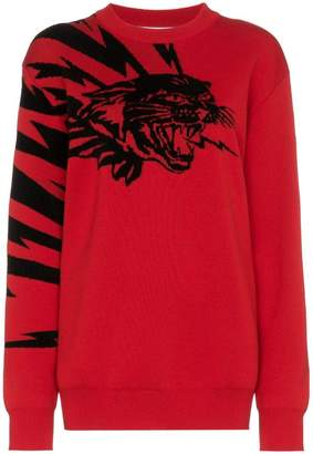 Givenchy flying cat jacquard jumper