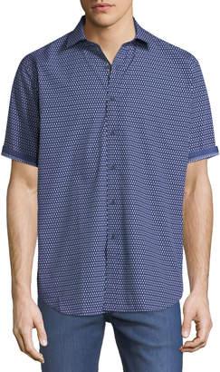 Bugatchi Classic-Fit Short-Sleeve Dobby Sport Shirt