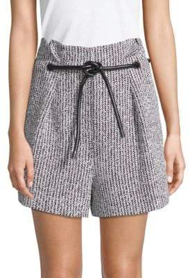 3.1 Phillip Lim Two-Piece Origami Pleated Shorts and Belt