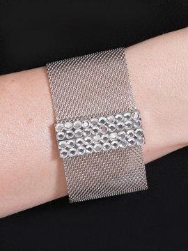 Embellished Mesh Bracelet