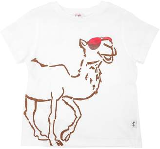 Il Gufo Camel Printed Cotton Jersey T-Shirt