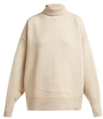The Row Pheliana Cashmere Roll Neck Sweater - Womens - Beige