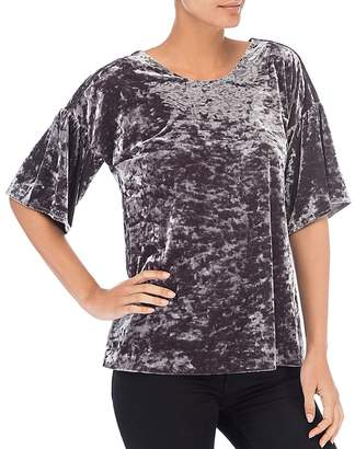 B Collection by Bobeau Emma Velvet Bell Sleeve Top