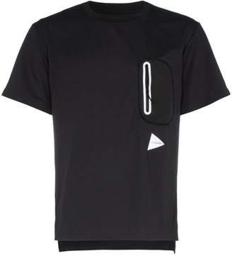And Wander Hybrid zip pocket T-shirt