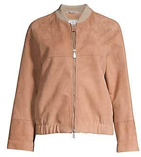 60e8d645cfe Pink Leather & Suede Coats - ShopStyle