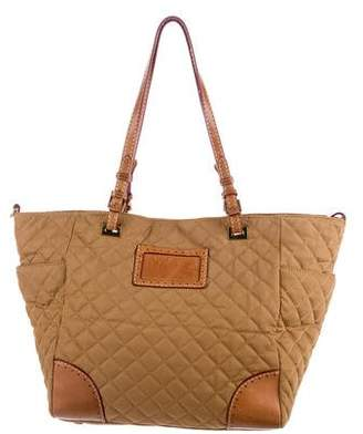 MZ Wallace Leather-Trimmed Quilted Nylon Tote