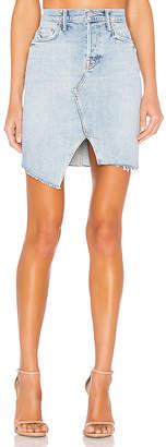 Mother The Tomcat Slide Mini Fray Skirt.