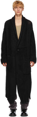 Isabel Benenato Black Alpaca Coat