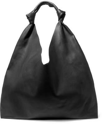 The Row Bindle Double Knots Leather Shoulder Bag - Black