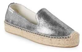 Soludos Metallic Leather Smoking Slippers
