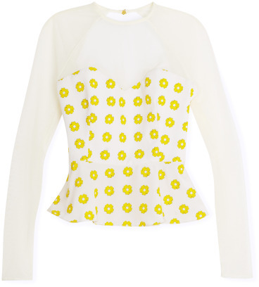 Opening Ceremony Floral Stamped Sweetheart Top