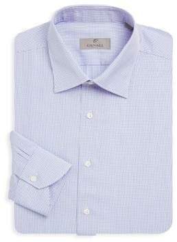 Canali Check Cotton Dress Shirt