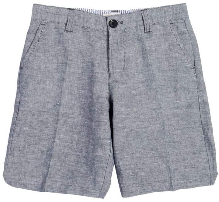 Linen & Cotton Blend Shorts