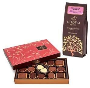 Godiva Chocolatier Chocolate Truffle Coffee & Chocolate Biscuit Gift Set