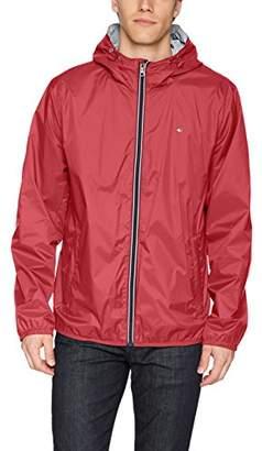 Tommy Hilfiger Men's Active Rain Slicker Jacket with Tricolor Zipper