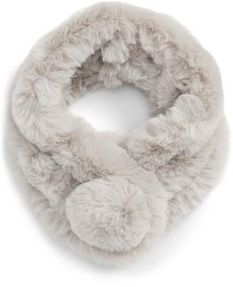 Leith Pom Faux Fur Snood