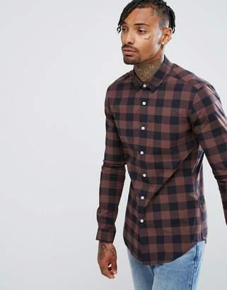 Asos Design Skinny Buffalo Shirt