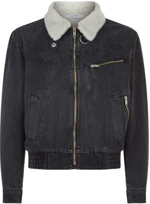 Givenchy Faux Shearling Denim Jacket