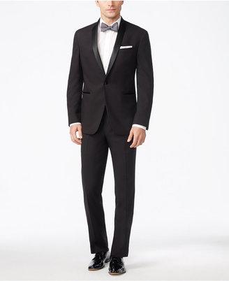 Kenneth Cole Reaction Men's Slim-Fit Performance Black Shawl Collar Tuxedo $425 thestylecure.com