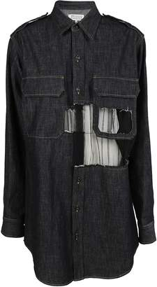 Maison Margiela Cut-out Detail Shirt Dress